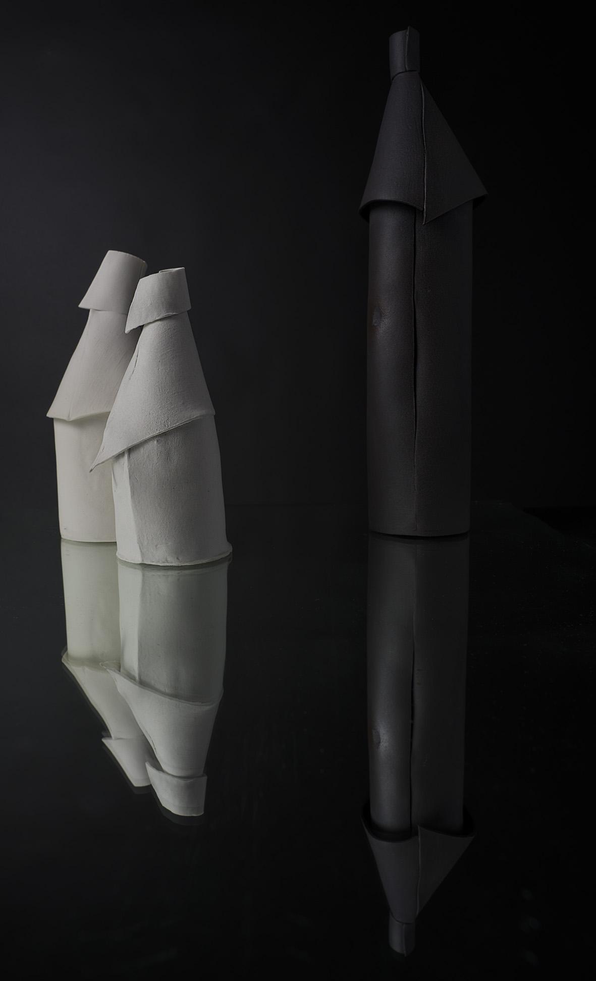 Bouteilles en porcelaine Céramique Cécile Vazeille Photographies Diane Ducruet