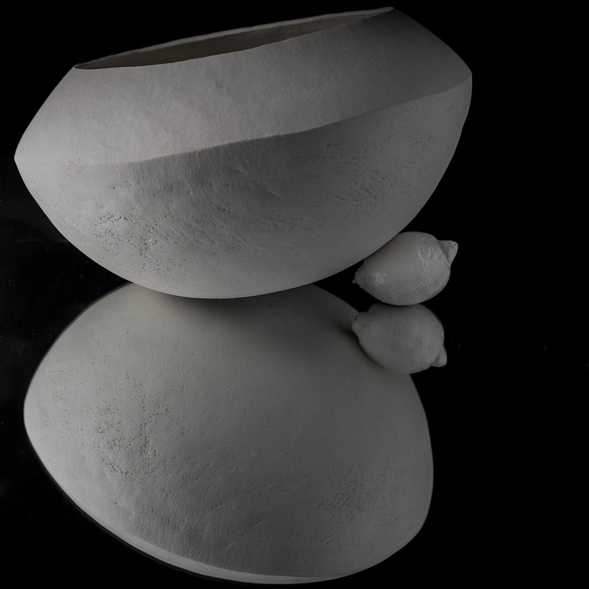 Jarre et Citron Blanc Céramique Cécile Vazeille Photographies Diane Ducruet